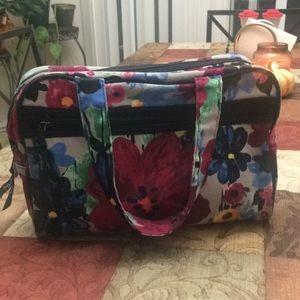 Thirty-one zip top floral watercolor makeup bag